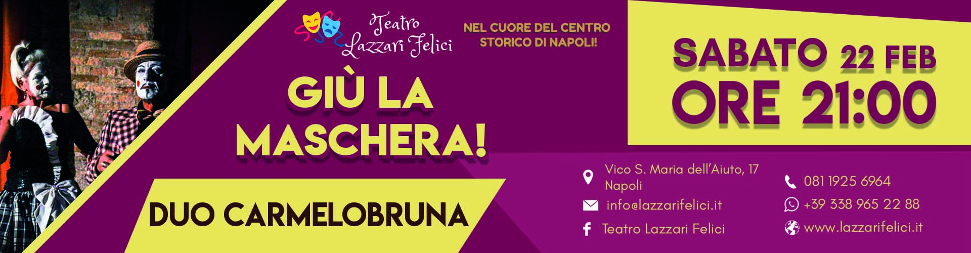 Spettacolo musical teatrale sul carnevale a Napoli