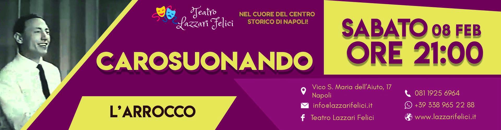Spettacolo su Carosone a Napoli Sabato 8 Febbraio 2020