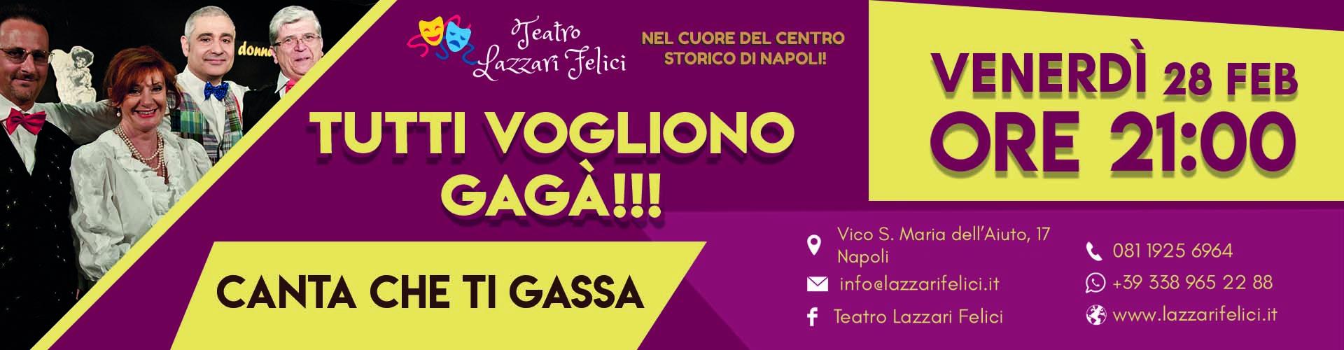 Spettacolo musical teatrale Venerdì 28 Febbraio a Napoli