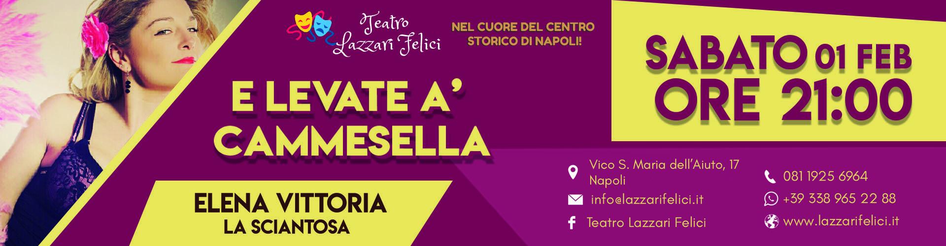 Spettacolo Sciantosa a Napoli Sabato 1 Febbraio 2020