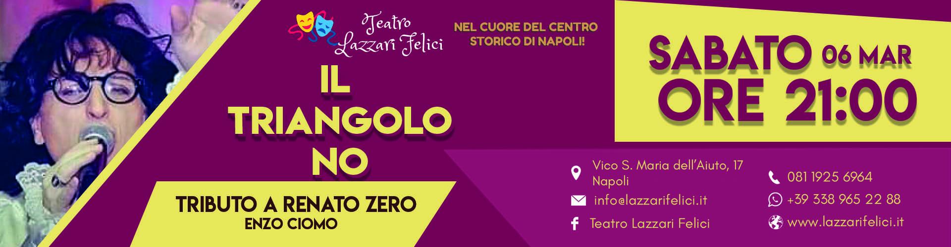 Show tributo a Renato Zero a Napoli